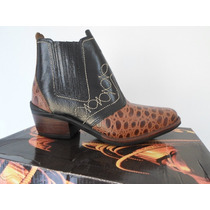Bota Couro Original Campolina Country Texana Numero 35