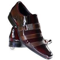 Sapato Social Masculino Verniz Lançamento Marrom Legítimo!!