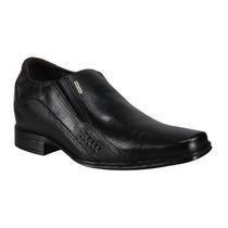 Pegada Sapato Salto Embutido Couro Preto Frete Gratis