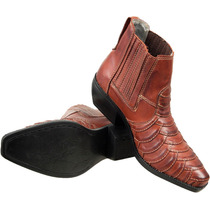 Bota Texana Escamada Country Rodeio Peao West Couro Legitimo