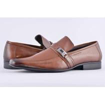 Sapato Social Masculino Couro Legitimo 100 Marrom Pé Ferro