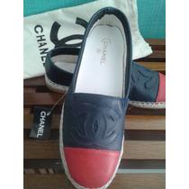 Alpargata Chanel Inspired Em Couro - Frete Gratis