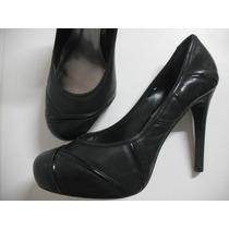Sapato Plataforma Meia Pata Scarpin Tam 39 Preto Bom Estado