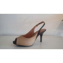 Sapato Scarpin Chanel Peep Toe Pata 1cm Confortável Vizzano