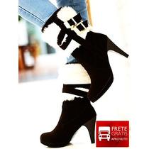 Sapatos Importado Bota Salto Alto Moda Sexy
