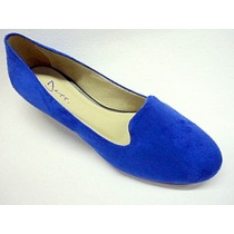 Sapatilha Slippers Camurça Azul Klein
