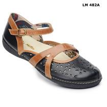 Sapato (sistema Comfort) Estilo Retro Em Couro Nr.33