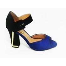 Sandália Casual Vizzano 6260200 - Azul/preto