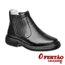 Sapatos Franca - Botina Alcalay Relax 710 Café E Pret...