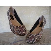 Calçados Femininos Tipo Sapatilha N.35 Em Couro Maravilhosa