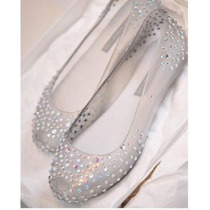 Sapatilha Melissa Swarovsky Diamond Crystal Pronta Entrega