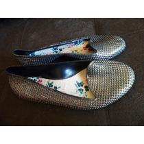 Sapatilha Sapato Feminino 34 Brilho Glitter