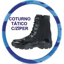 Coturno Para Militares Extra Forte Super Leve Zíper Interno.