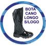 Bota Cano Longo S/ Logo, Couro Legítimo *** Frete Grátis ***
