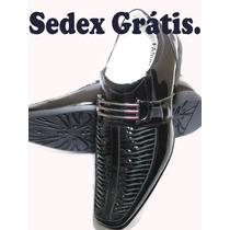 Sapato Social Masculino Verniz ,sedex Grátis De 2 A 4 Dias .
