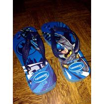 Chinelo Havaianas Criança Batman Azul Tam:31/32. Ref:0058