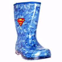 Galocha Chuva Infantil Superman Azul Camuflada Sete Léguas