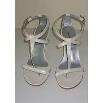Sandália De Salto Em Verniz Branca - Shangrila - 39