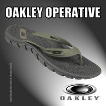 Chinelo Oakley Operative Olive - Original