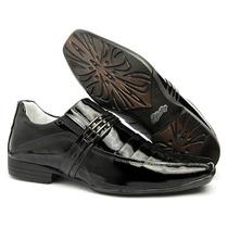 Sapato Social Masculino Verniz Couro Legítimo Ref. 72011