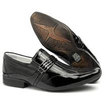 Sapato Verniz Alcalay Social Couro Legítimo Ref. 78042
