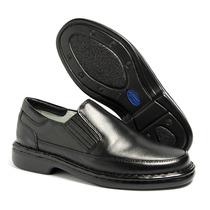 Sapato Masculino Social Casual Antistress Couro Ref. 0709