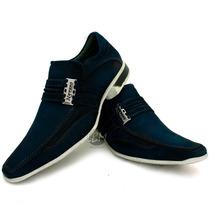 Sapato Masculino Esporte Fino Marinho- Promoção Dia Dos Pais