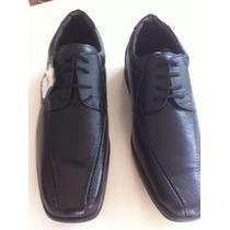 Sapato Masculino Couro Legitimo De Cadarço Bico Quadrado