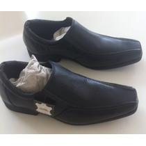 Sapato Couro Legitimo Masculino Lindíssimo Bico Quadrado