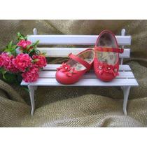 Sapato Sapatinho Social Infantil Menina Bebê - Vermelho Mod3