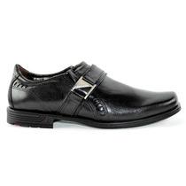 Sapato Social Masculino Pegada Preto Detalhe Fivela