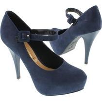 Sapato Vizzano Azul Modelo 1143.304 E Azul Marinho