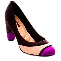 Sapato Scarpin De Camurça Moleca Feminino Confortável Linda