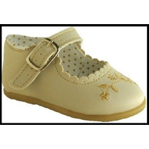 Sapato Sapatinho Social Feminino Para Bebê - Cor Bege