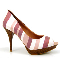 Sapato Peep Toe Feminino Vizzano 1778.400 - Olfer Calçados