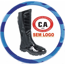 Bota Cano Longo S/ Logo, Couro Legítimo Sola Anti-derrapante