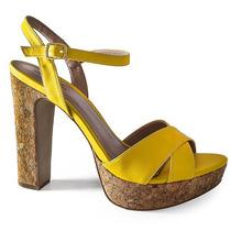 Sandalia Numeração Especial Salto Grosso Sapato Show 94311