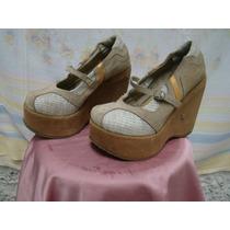Sapato Feminino Anabela Lui Lui 34* Ver Asterisco - Usado