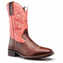 Bota Texana Rodeo Western Country Bico Quadrado Ref. 5055