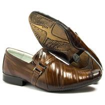Sapato Social Caramelo Stilo Ferracini Em Couro Legit Luxo