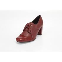 Sapato Feminino Oxford Com Salto Grosso Firezzi