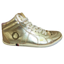 Tênis sapatênis / Bota/ Botinha Osklen Dourada 12x Sem Juros