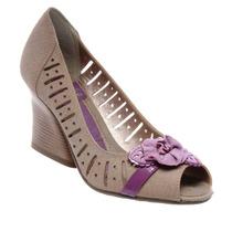 Sapato Peep Toe Ramarim Confortável Feminino Linda 1117104