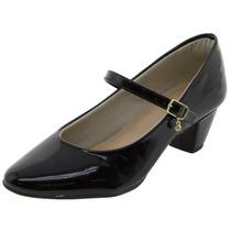 Sapato Feminino Boneca Verniz/preto - 556717302 Bárbara K