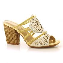 Sandália Em Couro Tanara - N7606 - Vizzent Calçados