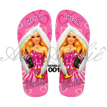 Sandálias Chinelos Havaianas Personalizadas Barbie