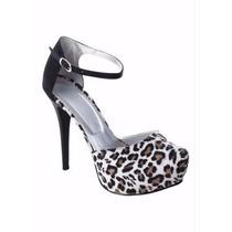 Sapato Feminino Peep Toe Onça