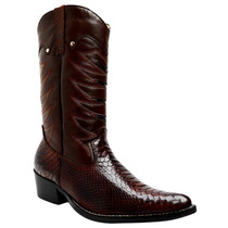 Bota Texana - Country - Bico Fino Cano Alto Anaconda