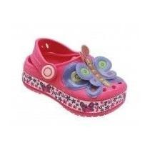 Sapato Infantil Yuupiii Borboleta Pink Igual Crocs Babuche