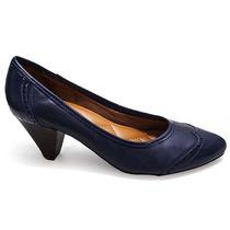 Scarpin Feminino Salto Baixo Sapato Show 35509